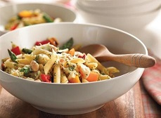 Tuscan Vegetables with Penne Pasta
