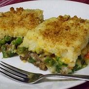 Beefy Mashed Potato Green Bean Casserole